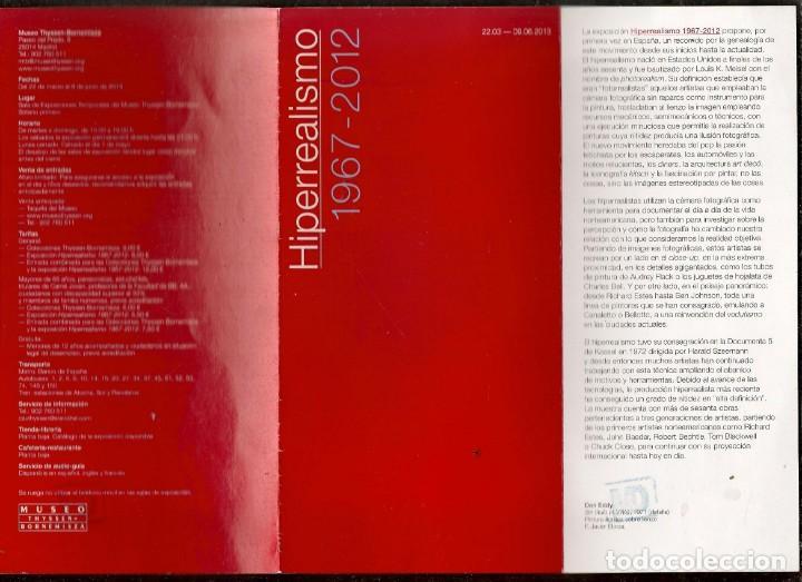 Arte: CATÁLOGO: HIPERREALISMO. 1967 - 2012. (B/A58.1) - Foto 2 - 218391333