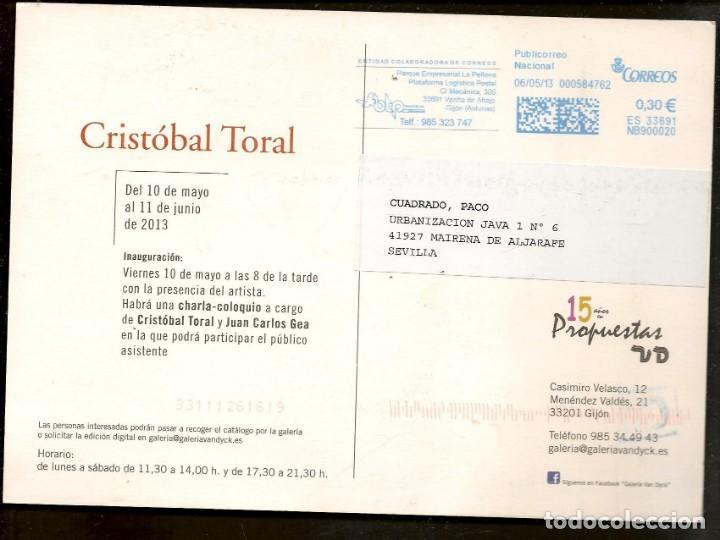 Arte: TARJETA: INVITACIÓN INAUGURACIÓN EXPOSICIÓN: CRISTOBAL TORAL. SEVILLA, 2013. (B/A58.1) - Foto 2 - 218401748