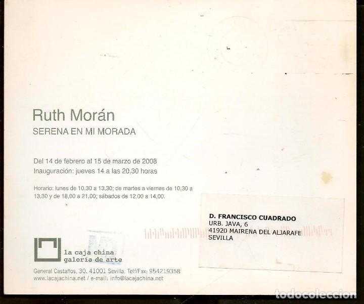 Arte: TARJETA: INVITACIÓN INAUGURACIÓN EXPOSICIÓN: RUTH MORÁN. SEVILLA, 2008. (B/A58.1) - Foto 2 - 218402241