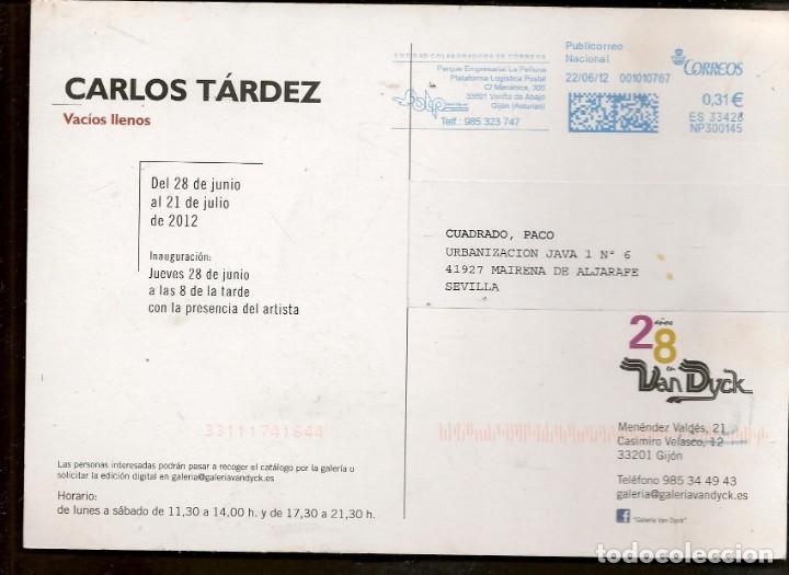 Arte: TARJETA: INVITACIÓN INAUGURACIÓN EXPOSICIÓN: CARLOS TÁRDEZ. SEVILLA, 2012. (B/A58.1) - Foto 2 - 218402372