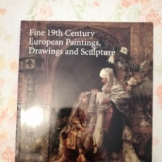 Arte: CATALOGO SOTHEBY'S 19TH CENTURY EUROPEAN PAINTINGS DRAWINGS AND SCULPTURE. Lote 218497985