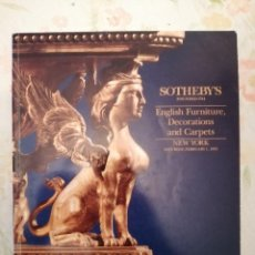 Arte: CATALOGO SOTHEBY'S IMPORTANT ENGLISH FURNITURE DECORATIONS AND CARPETS. Lote 218501182
