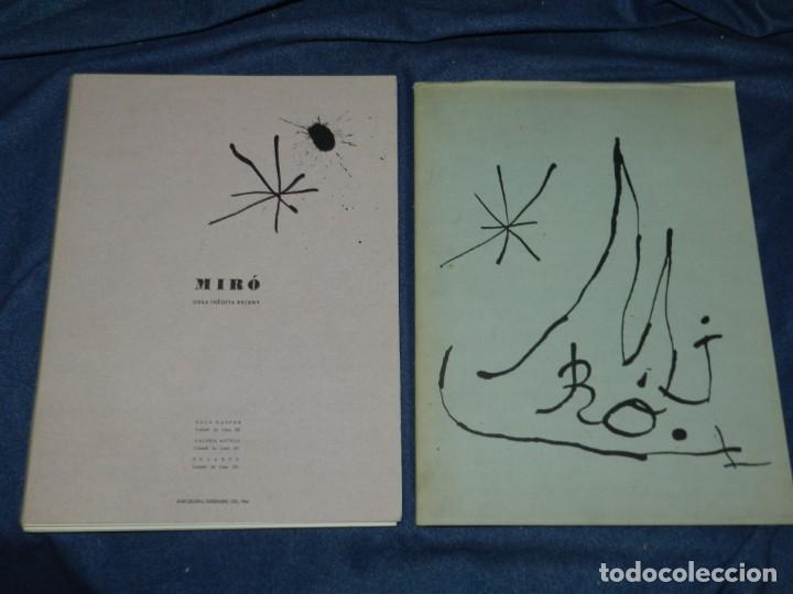 Arte: (M) JOAN MIRÓ OBRA INÉDITA RECIENTE + MIRÓ ALBUM 19 , SALA GASPAR 1964, JOAN BROSSA - Foto 3 - 218672912