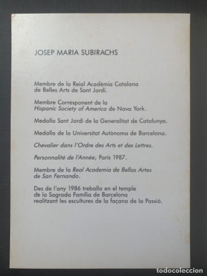 Arte: CATÁLOGO SUBIRACHS DEDICADO Y FIRMADO GALERIA AGORA 3 - Foto 4 - 219838435
