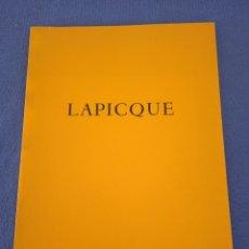 Arte: LAPICQUE. GALERIE JACQUES DUBOURG. Lote 220253750
