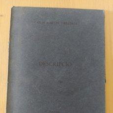 Art: CARLES AMELLER - DESCRIPCIÓ - BARCELONA, 1972. POESIA VISUAL - GRUP DE GRÀCIA - SALA GASPAR. Lote 221442742