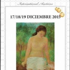 Arte: CATALOGO DE SUBASTAS AÑO 2015. Lote 221612523