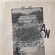 Arte: NACHO CRIADO, CARTEL EXPOSICIÓN PALACIO DE CRISTAL. MADRID 1977. 70 X 50,5 CM.. Lote 221884225