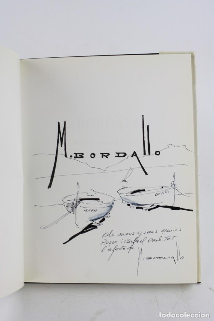 Arte: Catálogo M. Bordallo, Rafael Manzano, Francesc Galí, con dibujo y dedicatoria del artista. - Foto 2 - 221887062