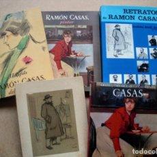 Arte: LOTE 5 LIBROS DE RAMON CASAS.. Lote 222393497