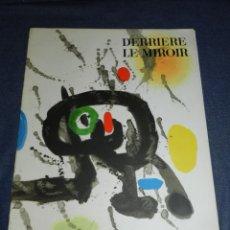 Arte: (M) DERRIERE LE MIROIR - CERAMIQUE MURALE POUR HARVARD JOAN MIRO , MAEGHT EDT 1961 NUM 123 10 PAG,. Lote 222813373