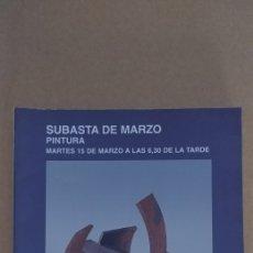 Arte: CATALOGO DE SUBASTAS SEGRE. MARZO 2005. Lote 224617243