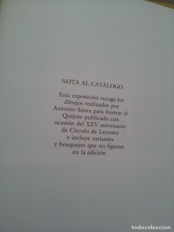 Arte: EL QUIJOTE DE ANTONIO SAURA - EDICIÓN DEL XXV ANIVERSARIO DE CIRCULO DE LECTORES 1989 - CUADERNO - Foto 5 - 224902396