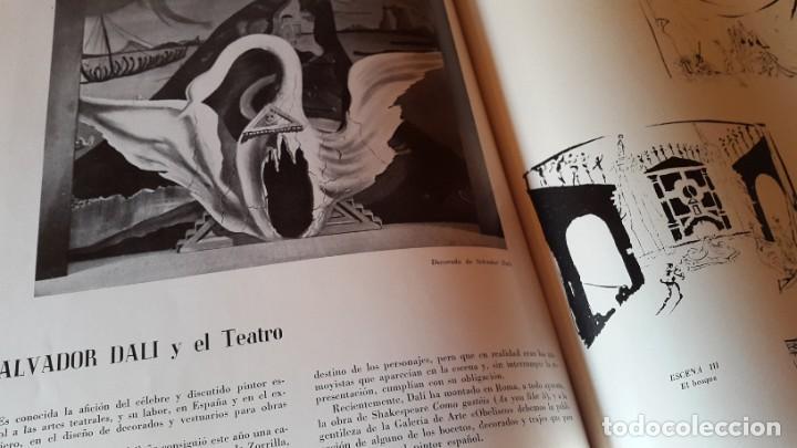 DALÍ - SALVADOR DALÍ Y EL TEATRO - ARTÍCULO - REVISTA NACIONAL DE ARQUITECTURA - 1950 (Arte - Catálogos)