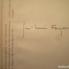 Arte: JOSÉ LUIS FAJARDO. FIAC 81. PARIS. GALERIA JUANA MORDÓ.. Lote 233131195