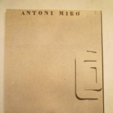 Arte: ANTONI MIRÓ. ONE DOLLAR. ED. JUANA MORDÓ. TEXTO. RAFAEL ALBERTI. 1975. Lote 233135710