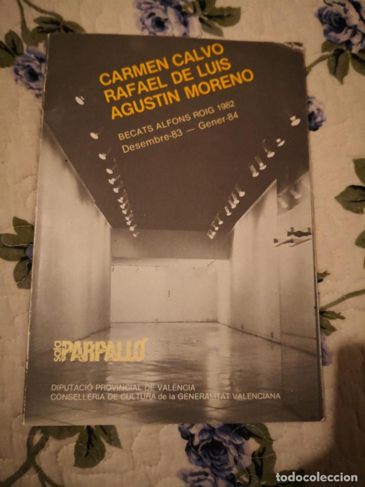 CARMEN CALVO – RAFAEL DE LUIS – AGUSTÍN MORENO SALA PARPALLO 1984 CATALOGO EXPSICION LIBROS (Arte - Catálogos)
