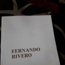 Arte: CATÁLOGO DE FERNANDO RIVERO DE 1989. Lote 234011800