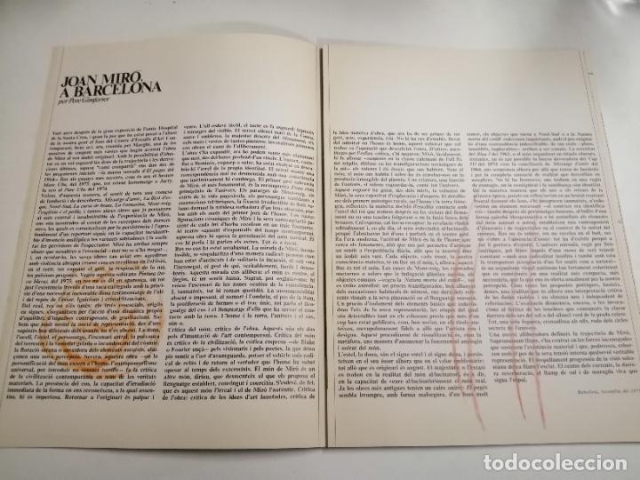 Arte: Joan Miró. Un camí compartit. 1976 Barcelona. Galeria Maeght. - Foto 3 - 236350160