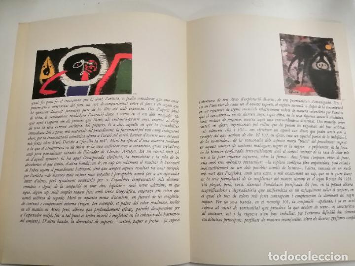 Arte: Joan Miró. Miró. 1978 Barcelona. Galeria Maeght. Dibuixos, gouaches, monotips - Foto 3 - 236350925