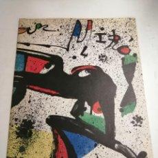 Arte: JOAN MIRÓ. MIRÓ. 1978 BARCELONA. GALERIA MAEGHT. DIBUIXOS, GOUACHES, MONOTIPS. Lote 236350925
