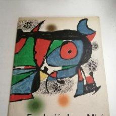 Arte: FUNDACIÓ JOAN MIRÓ. CENTRE D'ESTUDIS D'ART CONTEMPORANI. EXPOSICIÓ D'OBERTURA. 1975 BARCELONA. Lote 236351820