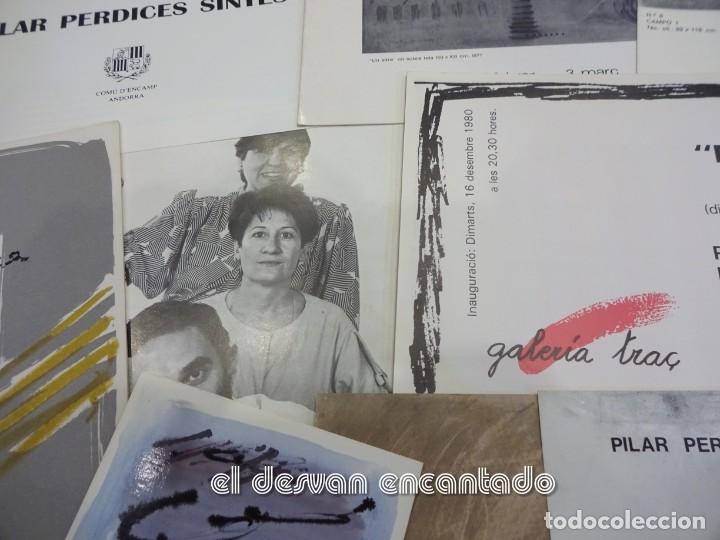 PILAR PERDICES SINTES. LOTE 16 FOLLETOS Y CATÁLOGOS EXPOSICIONES AÑOS 1970 Y 80 (Arte - Catálogos)