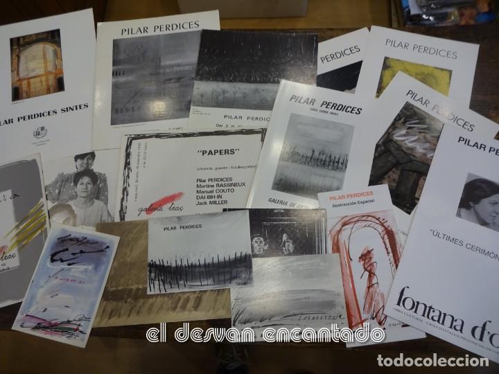 Arte: Pilar PERDICES SINTES. Lote 16 folletos y catálogos exposiciones años 1970 y 80 - Foto 2 - 236575765