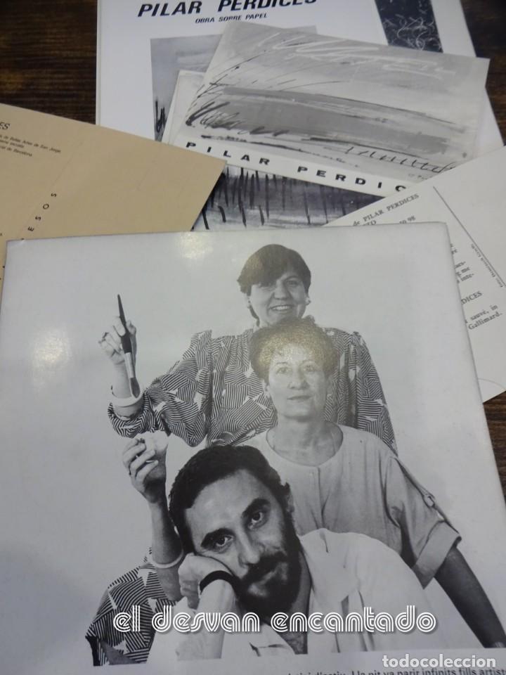 Arte: Pilar PERDICES SINTES. Lote 16 folletos y catálogos exposiciones años 1970 y 80 - Foto 3 - 236575765