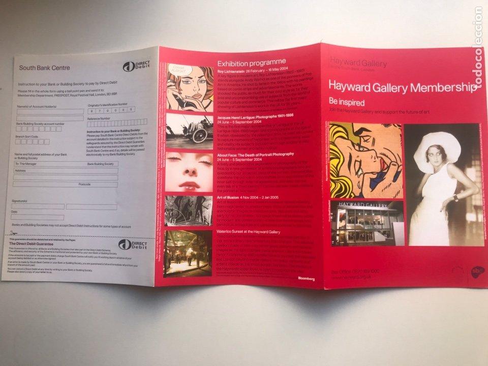 Arte: Envío 6€. Folder MEMBERSHIP 15x21cm.cerrado HAYWARD GALLERY Obra de ROY LICHTENSTEIN - Foto 3 - 237653130