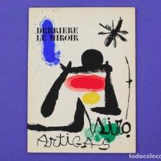 Arte: DERRIERE LE MIROIR - JOAN MIRÓ - ARTIGAS, MAEGHT EDITOR 1963. NUM 139-140. Lote 239386845