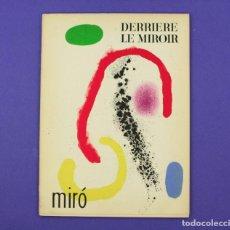 Arte: DERRIERE LE MIROIR - JOAN MIRÓ , MAEGHT EDITEUR 1961. NUM 125 - 126.. Lote 239388655