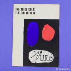 Arte: DERRIERE LE MIROIR - JOAN MIRÓ - MAEGHT EDITEUR 1953. NUM 57,58,59.. Lote 239391520