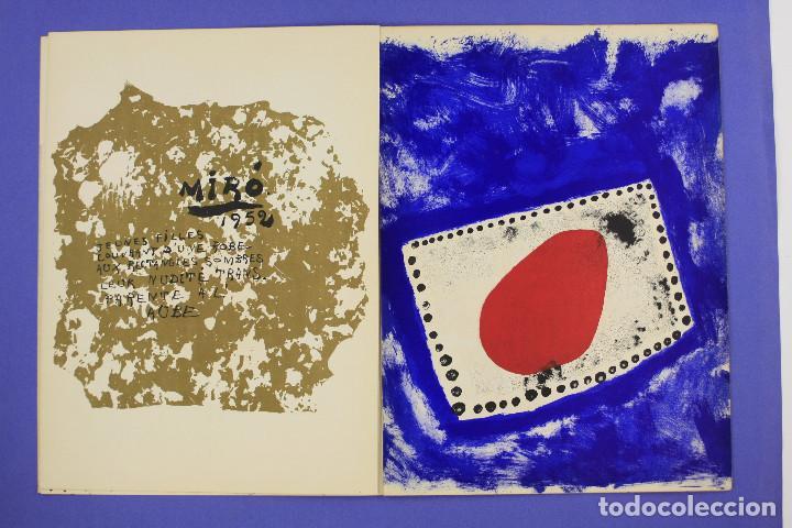 Arte: DERRIERE LE MIROIR - JOAN MIRÓ - MAEGHT EDITEUR 1953. NUM 57,58,59. - Foto 5 - 239391520