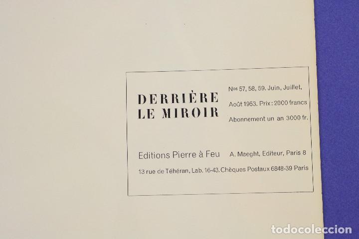 Arte: DERRIERE LE MIROIR - JOAN MIRÓ - MAEGHT EDITEUR 1953. NUM 57,58,59. - Foto 15 - 239391520