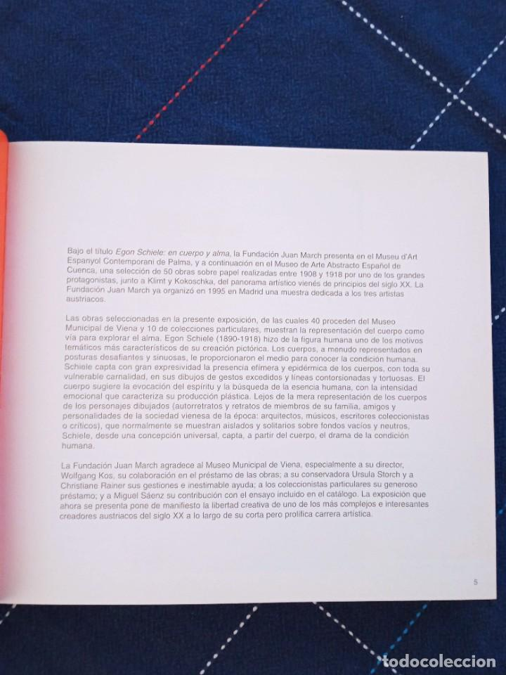 Arte: Catálogo EGON SCHIELE. En Cuerpo y Alma. Fundación Juan March 2005. - Foto 4 - 241943950