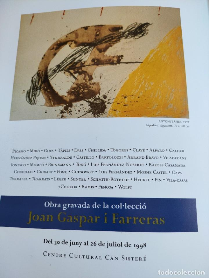 Arte: Obra gravada de la colección Joan Gaspar santa Coloma 1998 tríptico exposición - Foto 2 - 243817265