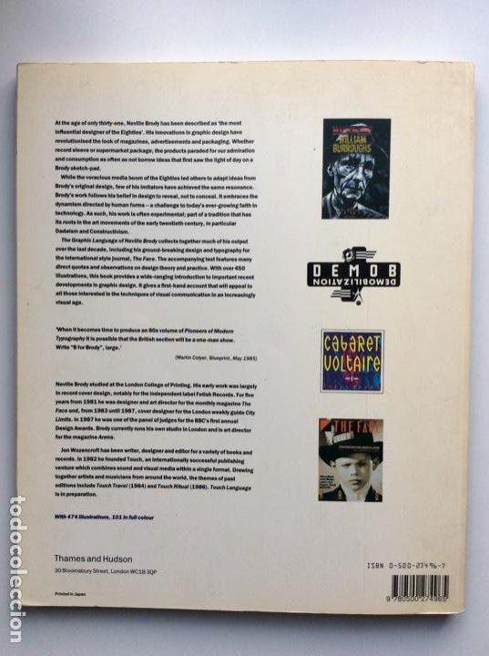 Arte: Envío 8€. Catálogo THE GRAPHIC LANGUAGE OF NEVILLE BRODY 30x25cm, 160 pag - Foto 11 - 243991340