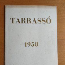 Arte: TARRASSO CATÁLOGO EXPOSICIÓN EN 1958 EN BARCELONA. Lote 245204100