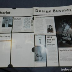 Arte: (M) REVISTA DESIGN BUSINESS JUNE 1988 - N,.1 - MICHAEL PETERS, TOP OFFICE 1988, ROLAND SMITH. Lote 245566145