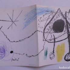 Art: MIRÓ.SOBRETEXIMIS I ESCULTURES.INVITACION.SALA GASPAR .BARCELONA 1972. Lote 246477285