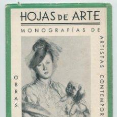 """Arte: ARTE MONOGRAFÍAS DE ARTE """"HOJAS DE ARTE"""" (1944). Lote 254680610"""