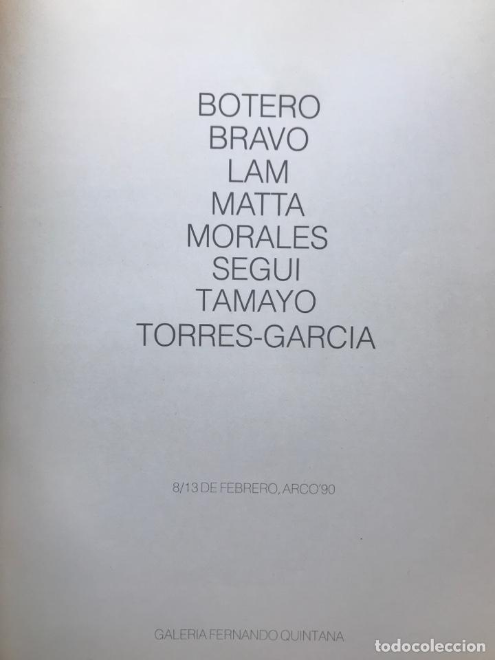Arte: Envió 8€. Catalogo 8 artistas galería FERNANDO QUINTANA. 44 pag. mas cubiertas. mide 29x24,5cm. .... - Foto 2 - 254920675