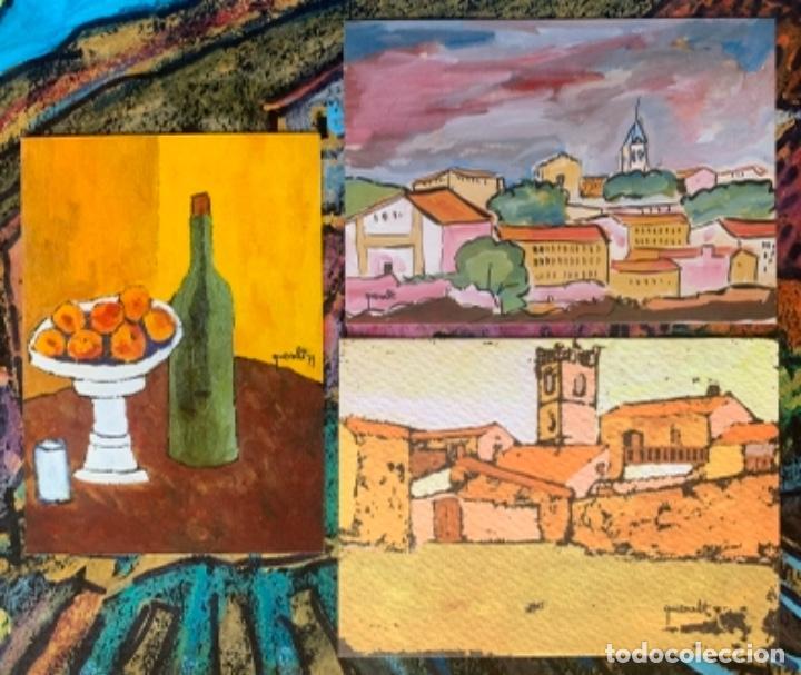 LOTE TRES POSTALES JOAN QUERALT DE QUADRAS (Arte - Catálogos)