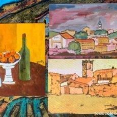 Arte: LOTE TRES POSTALES JOAN QUERALT DE QUADRAS. Lote 255337815