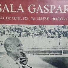 Arte: CARTEL DE EXPOSICION DE PICASSO,SALA GASPAR 1980. Lote 255629000