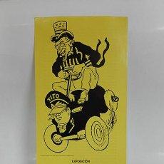 Arte: CARICATURA POLÍTICA, 1946-1963. HOJA/CATÁLOGO DE EXPOSICIÓN. 1999.. Lote 256059590