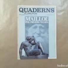 """Arte: MAILLOL - QUADERNS OBRA SOCIAL Nº 3 - CAIXA PENSIONS """" LA CAIXA """" - NOVEMBRE 1979 -(L1). Lote 257351595"""