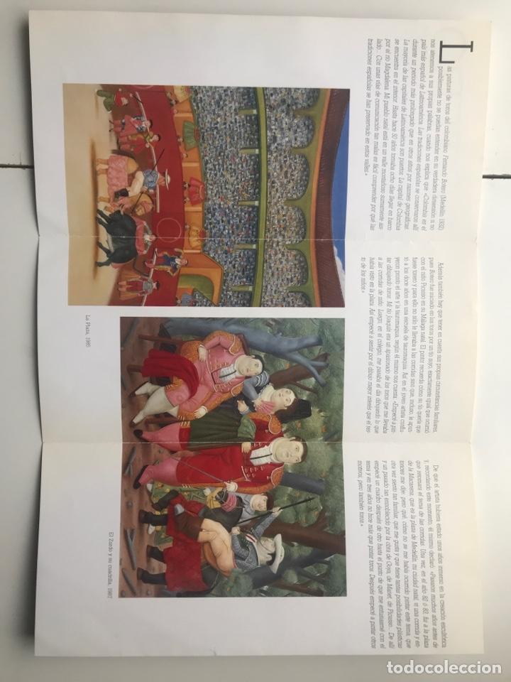 Arte: Envió 8€. Folleto BOTERO LA CORRIDA. tríptico, Fundación Fondo de Cultura de S. 1992 mide 21x10cm - Foto 2 - 257380260