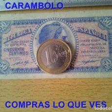 Art: 1937 SERIE A REPUBLICA ESPAÑOLA 50 CENTIMOS BILLETE EMISION C82. Lote 258018360